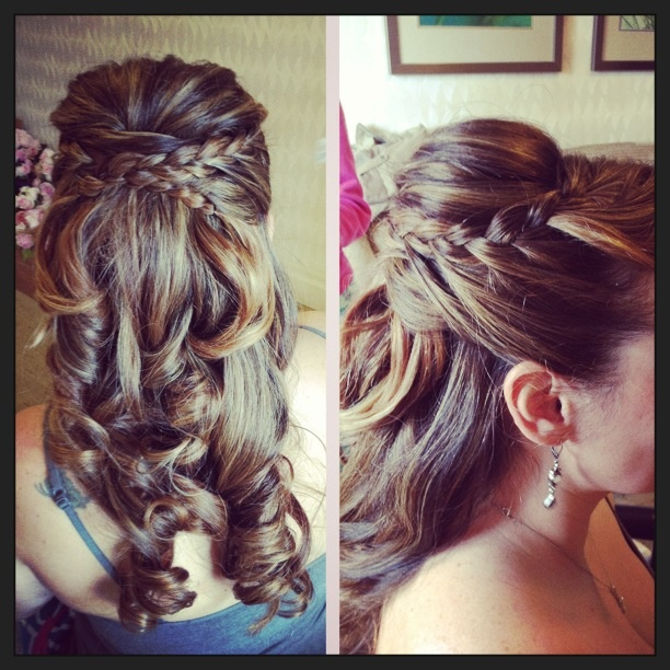 Wedding Hairstyles Down With Braids: Wedding Hair. Half Up Do With Braid!