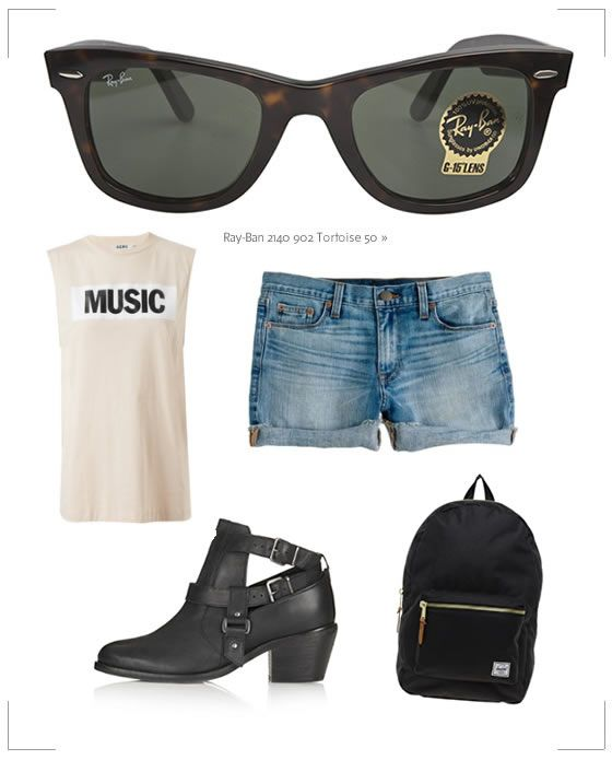 Coachella Festival Sunglasses: Time to Get Packing | The Look | Coastal.com – Your Eyewear Fashion Destination #Coachella #RayBan