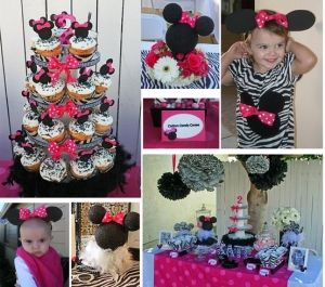 Minnie Mouse Zebra party ideas by valarie