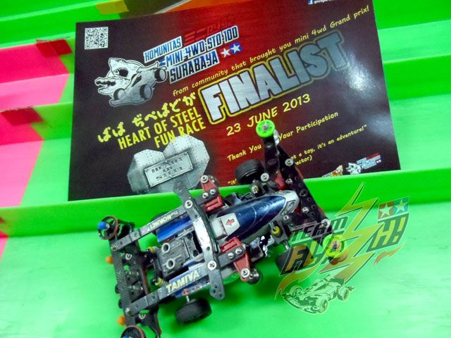 Event: Fun Race   Date: 23 June 2013  Venue: Kaza City  Racer: Rangga   Machine: NT-04 MS-L Chassis with One Way medium wheels