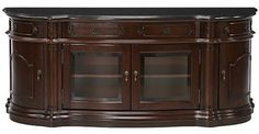 BEAUTIFUL... Versailles Widescreen TV Cabinet with Glass Doors - traditional - Filing Cabinets - Home Decorators Collection