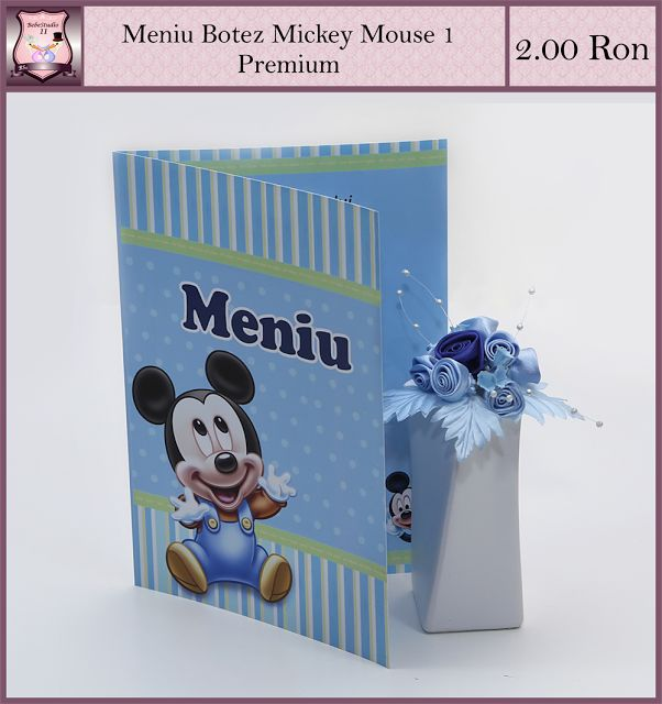 Marturii Botez-Personalizari Evenimente: Modele Asortate Botez Mickey Mouse 1