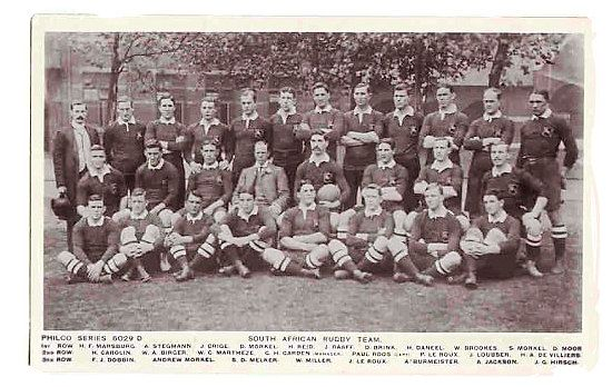 """The 1906 South African national rugby team, the first team to be called """"Springboks"""" - Springbok rugby in South Africa and the South Africa rugby team"""