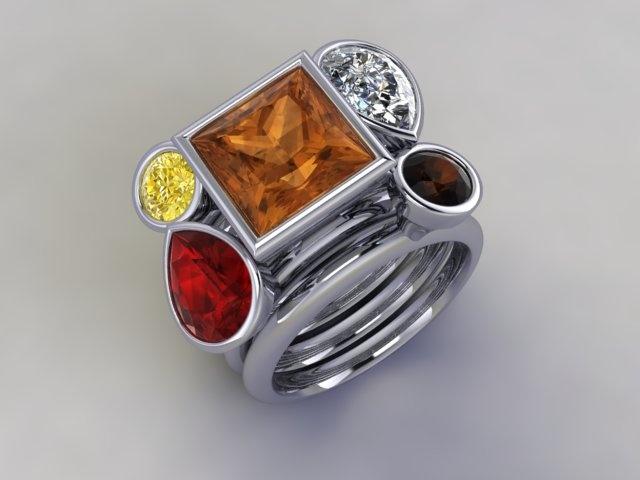 'Benzini' stacker ring www.lucymecklenburghjewellery.com in association with www.diamondgeezer.com