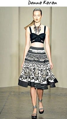 inspiration for bleach pen to  update skirt with tribal pattern