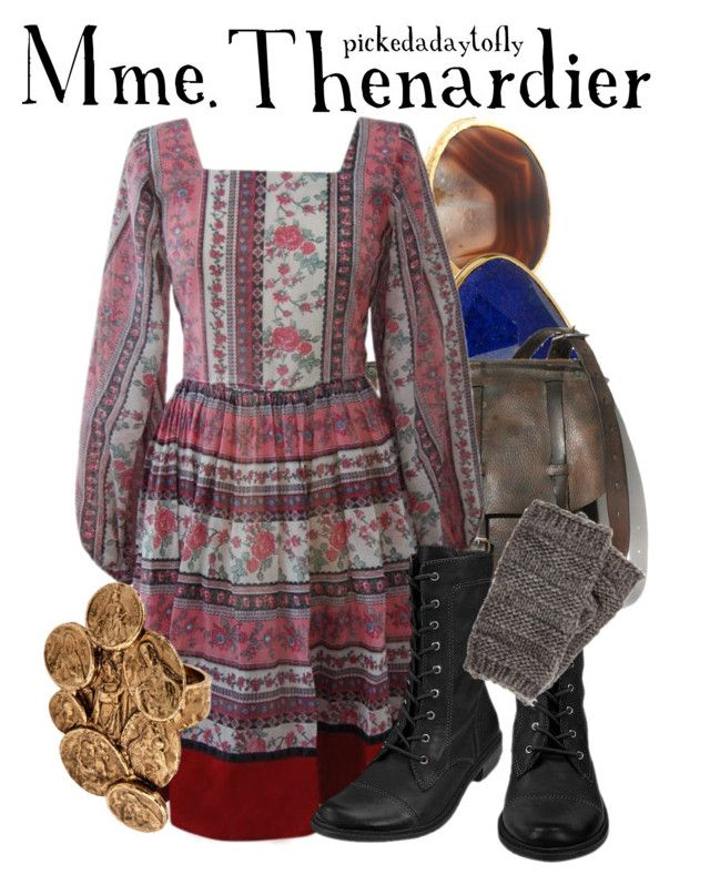 """""""Mme. Thenardier"""" by pickedadaytofly ❤ liked on Polyvore featuring Dara Ettinger, Monica Vinader, MIA, Pieces, LowLuv, les miserables and helena bonham carter"""
