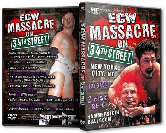 ECW Wrestling: Massacre on 34th Street DVD, Tajiri Steve Corino Mikey Whipwreck  | eBay