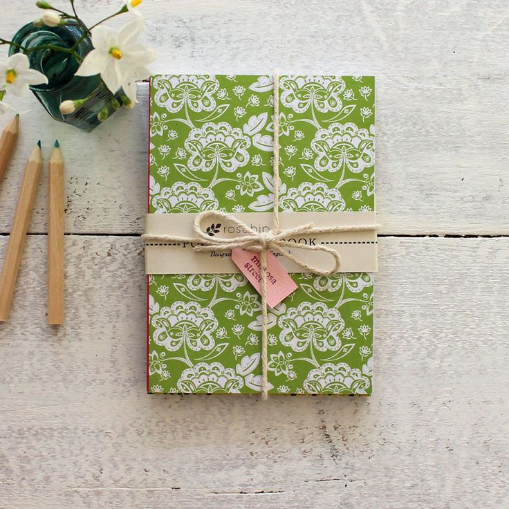 Set of three pocket vintage-style floral notebooks at Mimosa Street - by Rosehip.
