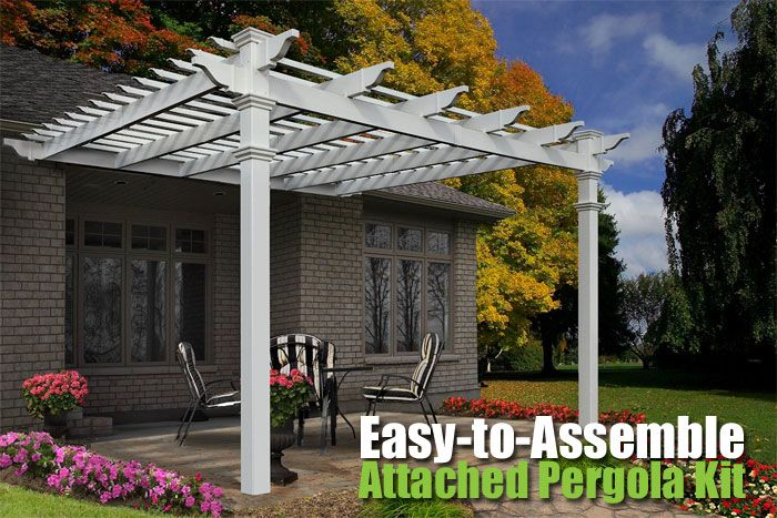 4 Ways to Save Money with the Freemont Attached Pergola Kit, How to Build an Outdoor Room, Add Privacy and Increase the Value of Your Home.