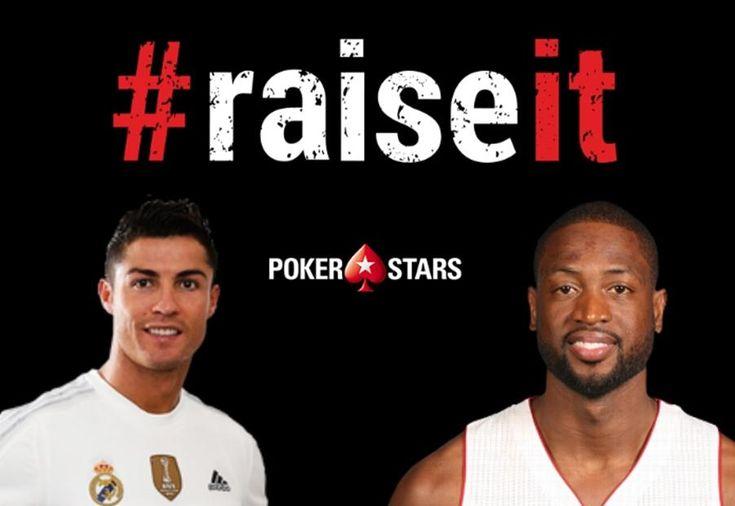 """PokerStars продолжили свою нашумевшую маркетинговую кампанию #RaiseIt. Новыми героями """"конкурса талантов"""" от Старзов стали известный баскетболист Дуэйн Уэйд и звезда футбола Криштиану Роналду."""