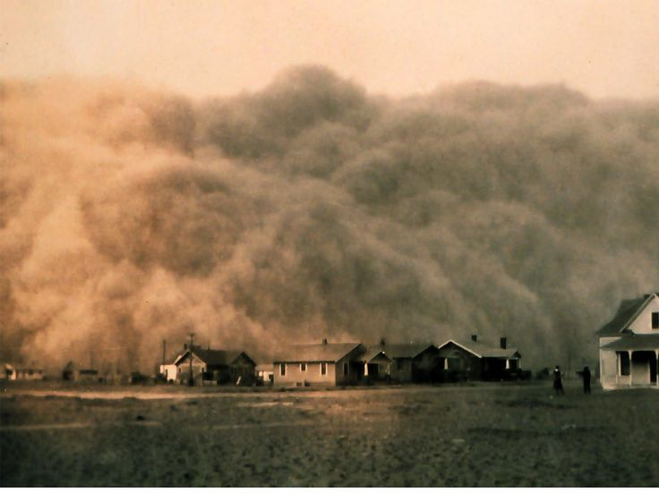 The Great Depression was bad, but perhaps the worst crisis in 1930s America was the Dust Bowl. Description from businessinsider.com. I searched for this on bing.com/images
