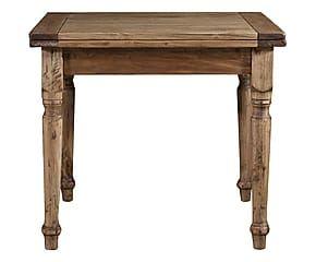 Tavolo allungabile in legno massello di tiglio Olivia naturale - 80x90x90 cm