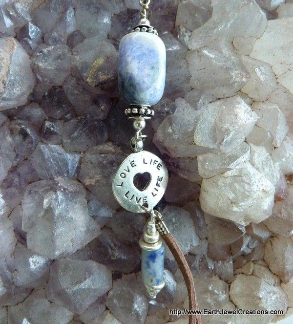 "Sodalite ""Synergy"" Pendant - handmade crystal energy gemstone jewellery Earth Jewel Creations Australia"