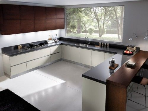 Grey Matt Lacquered Kitchen Cabinets  One Trentino Grey Matt