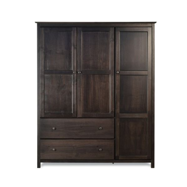 Wardrobe Bedroom Armoire Espresso Finish
