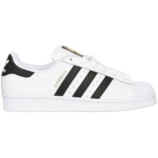ADIDAS ORIGINALS Superstar Foundation Leather Sneakers - White/Black found on Polyvore