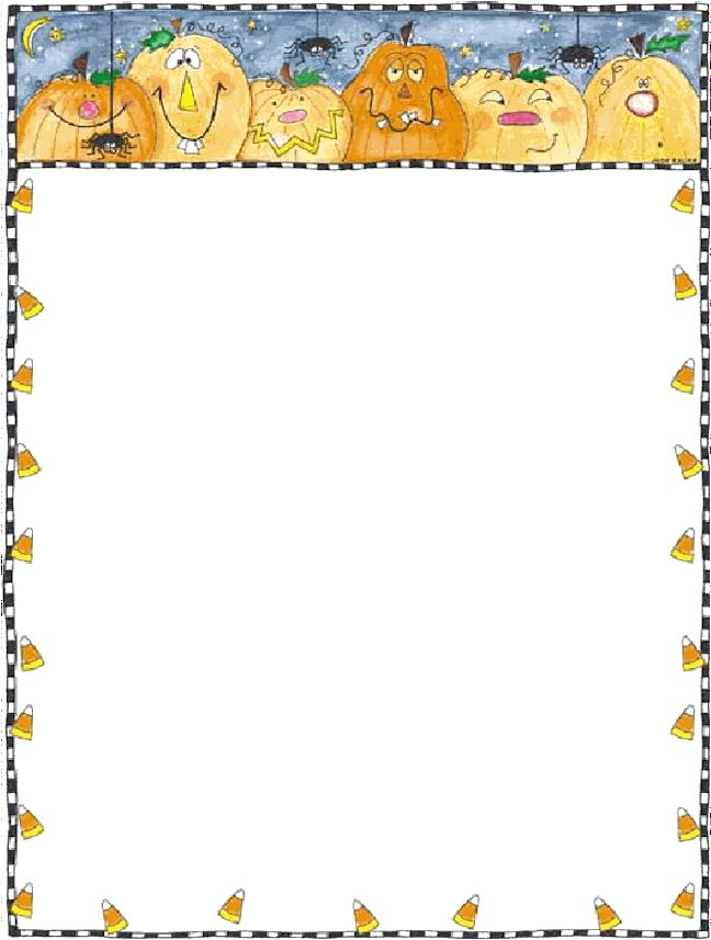 This is a photo of Amazing Free Printable Halloween Borders