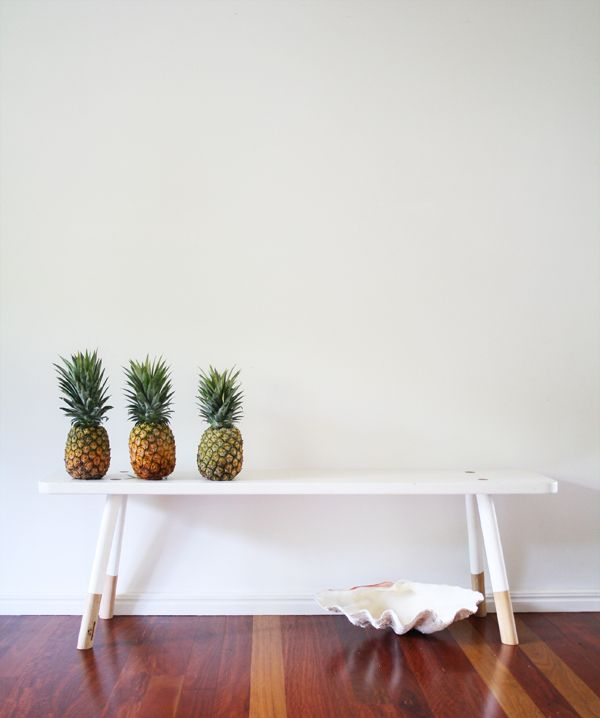 styling by style.life.home♥  Green Catheral stool  my pineapple crush