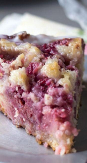 Raspberry Lemon Sweet Roll Cake with Buttermilk Glaze ~ This Sweet ...