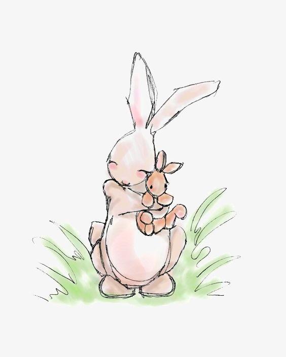 Нарисовать смешного кролика, намалювати