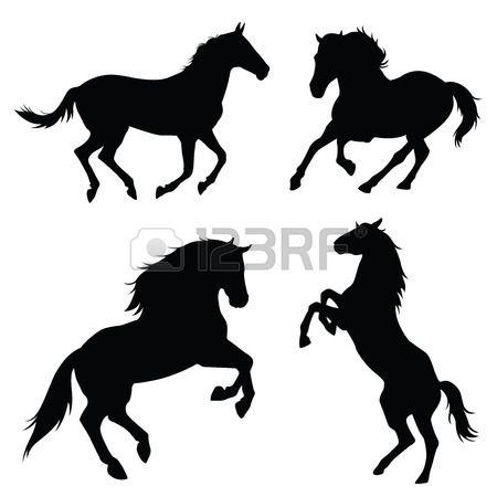 paard silhouet illustratie set Stockfoto - 43527503
