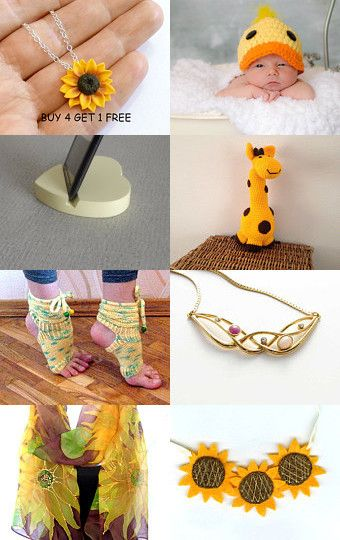 Summer Finds In Yellow by matina nychas on Etsy--Pinned with TreasuryPin.com