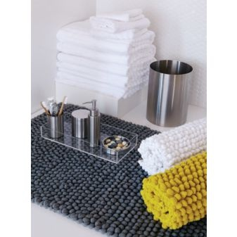 Best Bathroom Images On Pinterest Bathroom Ideas Apartment - Grey and yellow bath rugs for bathroom decorating ideas