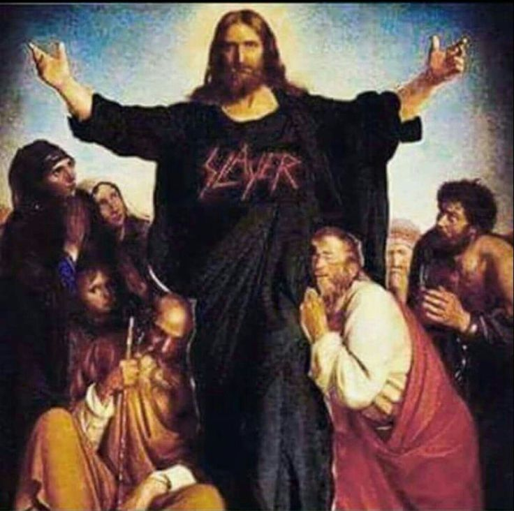 Jesus worship fucking Slayer