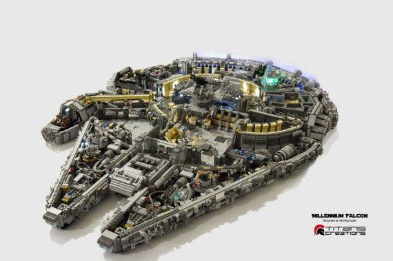 Intérieur Faucon Millenium en LEGO - image #01