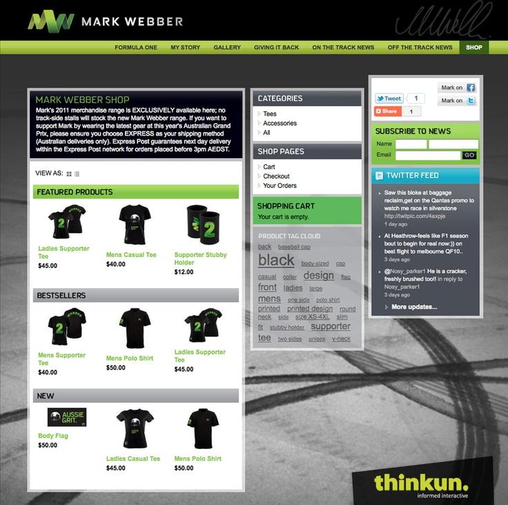Mark Webber website