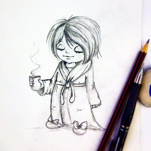 #Ivashka_  #понедельник #ивашка#рисунок #кофе#утро #эскиз#рисунок#девочка#girl#topcreator #IDraw #drawdraw #childrenillustration #kidsillustration #creativpaper #characterdesign #emotion #character #good_morning #иллюстрация #artist #illustration #maler #hero #children #pencil #pen #painting #pictrure