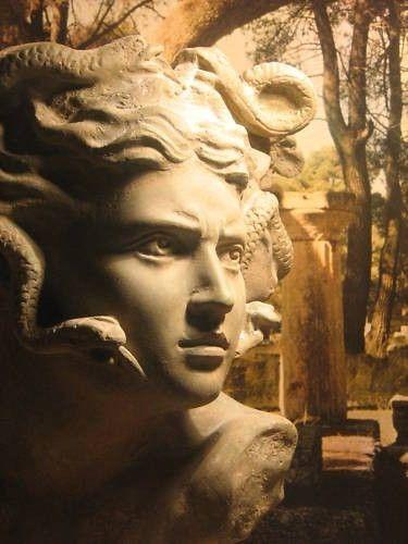 Medusa Statue Ancient Greek Mythology Art Sculpture Gorgon   eBay