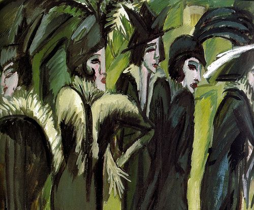 Ernst Ludwig Kirchner - Five Women on the Street, 1913 at Museum Ludwig Cologne Germany