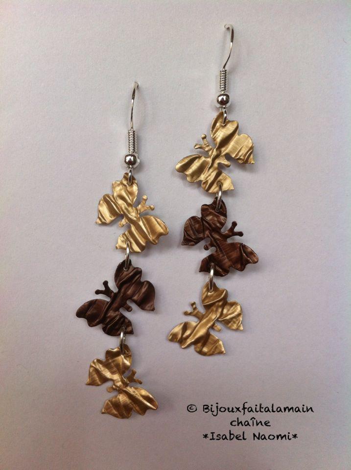 Boucles d'oreilles Nespresso papillon