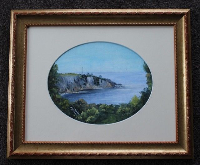 Framed Under Glass Fabulous SIGNED Oil Painting Of EDEN - NSW #REALISM