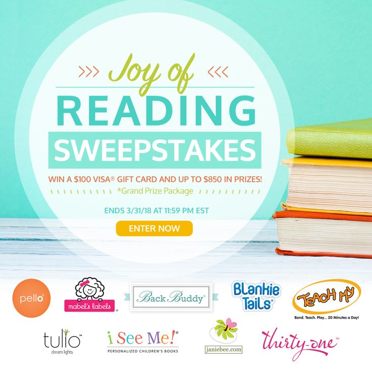 You could #WIN a $100 Visa® Gift Card and a prize package worth over $850 in the @ISeeMe_Books! 📚JOY OF READING! #SWEEPSTAKES 📚 #iseemebooks