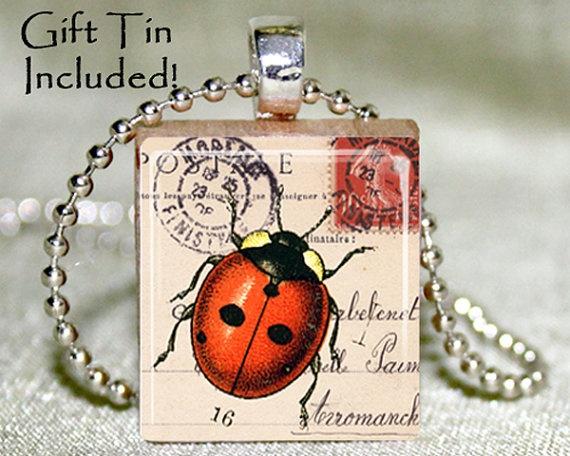 Scrabble Tile Pendant  Scrabble Tile Jewelry  by RunningInPlace, $8.95