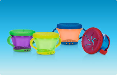 Solid Feeding, Bowls and Plates, Snack Keeper. No more messy snacks! Our unique Snack Keeper™ cup keeps kid-sized snacks inside the container instead of on the floor or car seat.