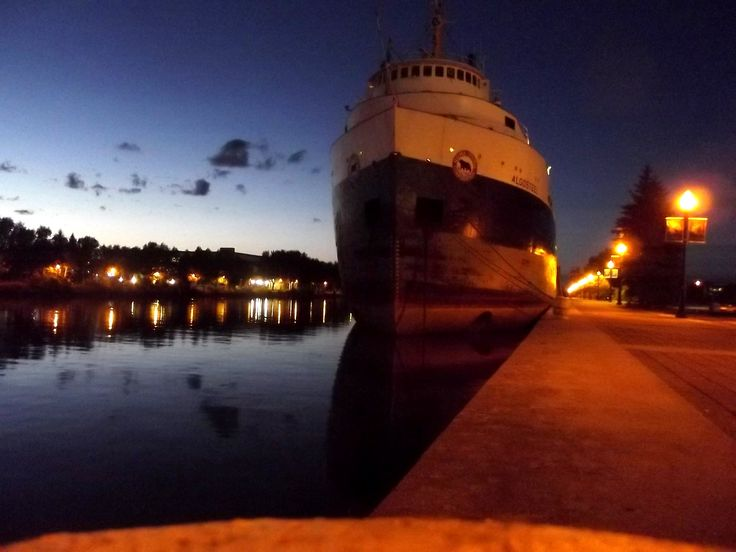 A laker in the Owen Sound harbour