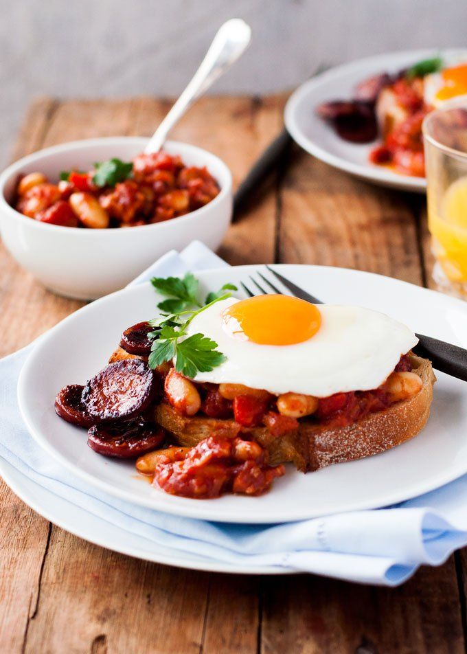 Pin for Later: 55 Recipes That Start With Chorizo and End With a Happy You Chorizo Baked Beans on Toast Get the recipe: chorizo baked beans on toast