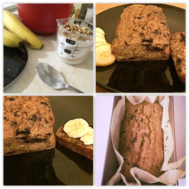 Vegan, sugar and gluten free banana bread