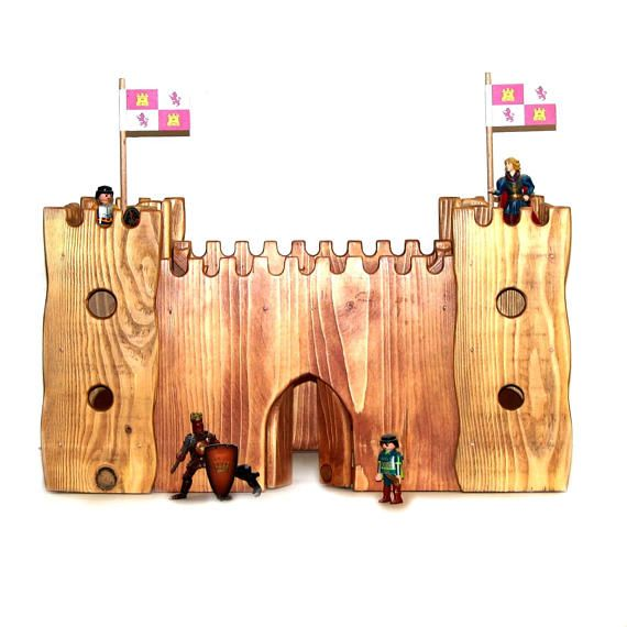 wooden castle with 4 towers it is a wooden castle with 4 2 floor - Painted Wood Castle 2015