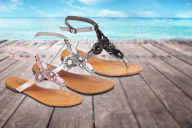Jewelled Gladiator Summer Sandals
