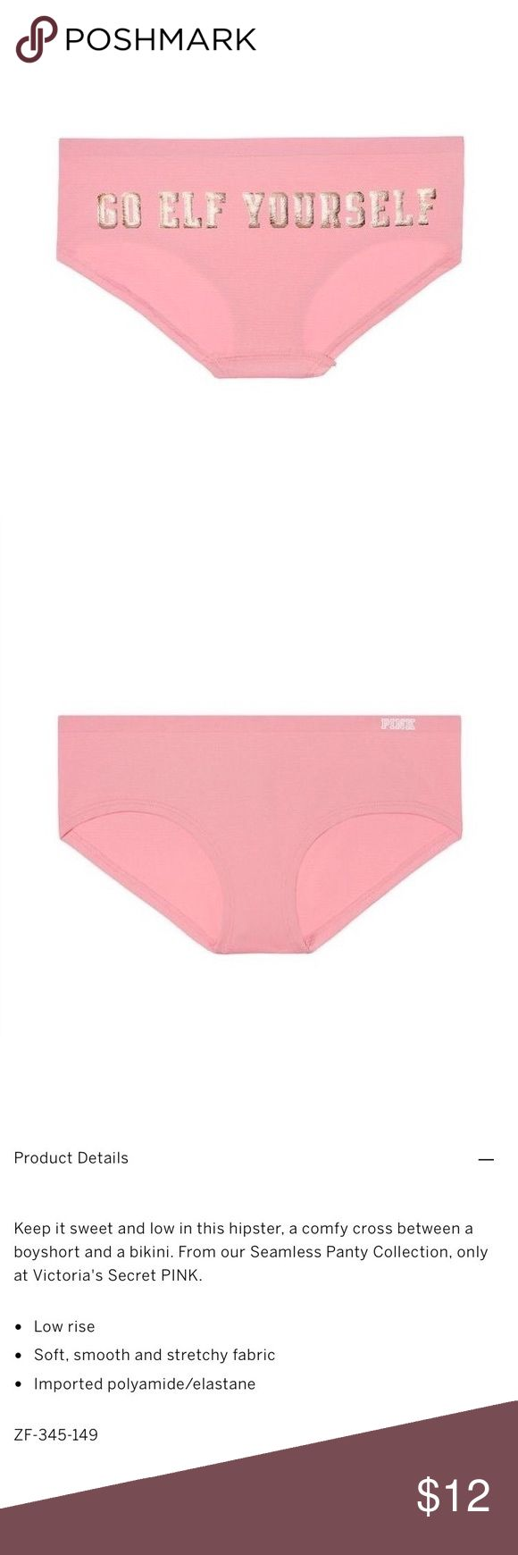 friend-mom-shows-panties ⚠ [pink victoria's secret] seamless hipster panty NWT