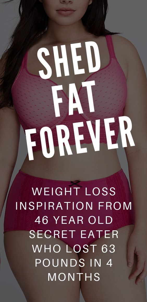 Weight Loss Inspiration From A 46 Year Old Secret Eater Who Lost 63