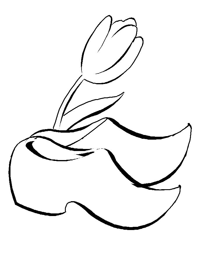 dutch windmill coloring pages - photo#22