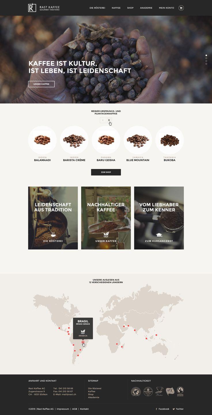 Pitch Webdesign Kaffee Rösterei Coffee