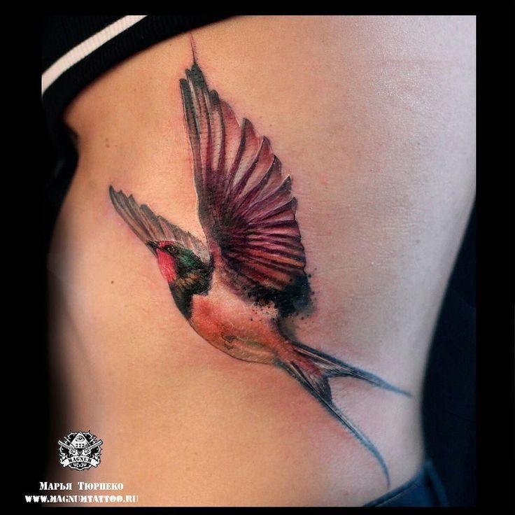 #MT_Наши_работы@magnummoscowtattoo  На сеансе у Марьи Тюрпеко Анастасия проявила нереальное терпение выдержав весь сеанс без анестезии!  #magnumtattoostudio#марьятюрпеко#магнумтату#tattoo #тату#татувмоскве#art#watercolortattoo#ласточкатату by stupenka_