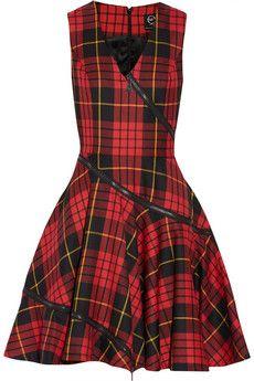 McQ Alexander McQueen Tartan wool dress   THE OUTNET