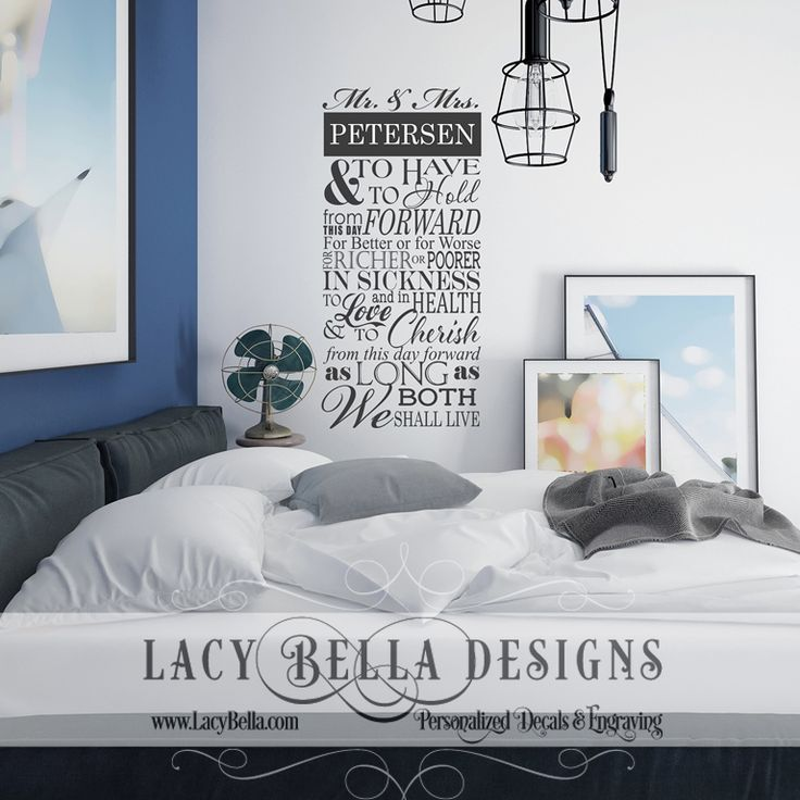 Best Master Bedroom Images On Pinterest Master Bedrooms - Can you put a wall decal on canvas